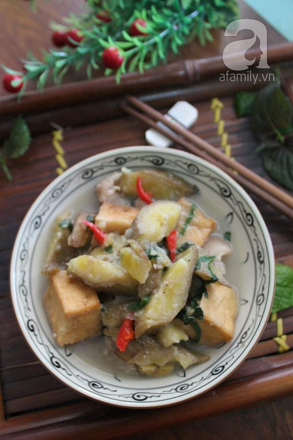 Chuối xanh nấu đậu thịt