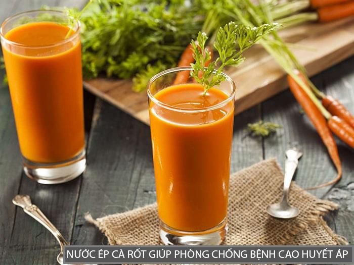 Nước ép cà rốt là thứ đồ uống cực tốt cho bệnh nhân cao huyết áp