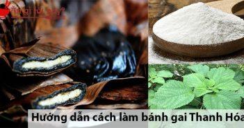 Hướng dẫn cách làm bánh gai Thanh Hóa