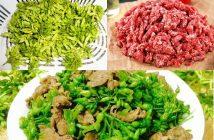 cách làm món hoa thiên lý xào thịt bò