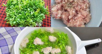 Cách nấu canh hoa thiên lý thịt băm