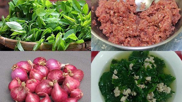 Cách nấu canh rau ngót thịt băm