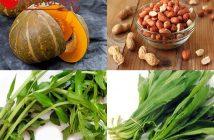 canh bí đỏ đậu phộng chay