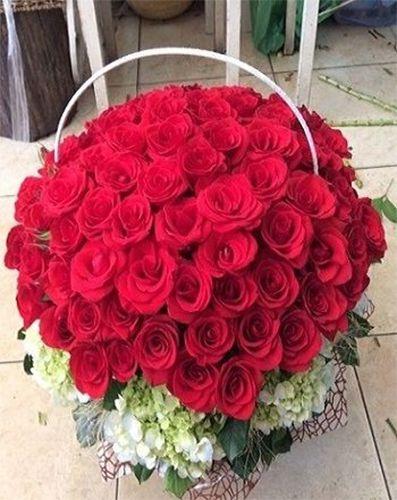Giỏ hoa Hồng Đỏ tuyệt đẹp
