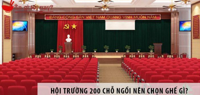 Thiết kế hội trường 200 chỗ ngồi nên chọn ghế gì? 1