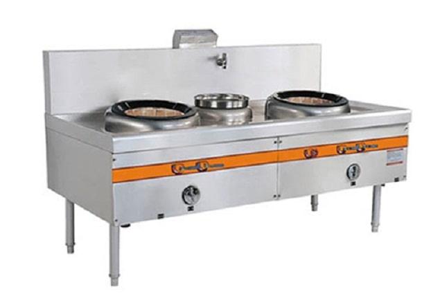 Bếp đôi – bếp Á 2 họng được thiết kế thông minh, hiện đại