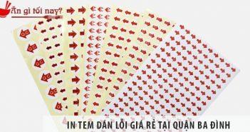 In tem dán lỗi quận Ba Đình giá rẻ tại Xưởng in Sơn Nguyên